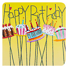 Buy Mint Publishing Birthday Cakes Birthday Card Online at johnlewis.com