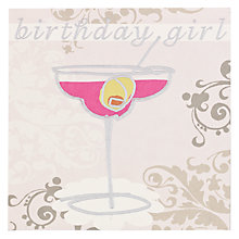 Buy Caroline Gardner Birthday Girl Cocktails Birthday Card Online at johnlewis.com