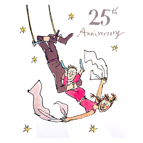 Buy Woodmansterne Couple on Trapeze Anniversary Card Online at johnlewis.com
