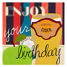 Buy Black Olive Cider Greeting Card Online at johnlewis.com