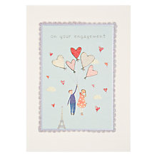 Buy James Ellis Stevens Couple with Balloon Engagement Card Online at johnlewis.com