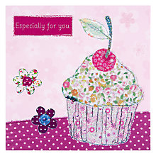 Buy Pigment Cupcake With A Cherry On Top Birthday Card Online at johnlewis.com