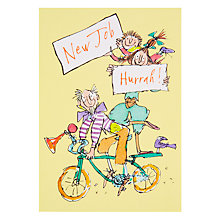 Buy Woodmansterne Family On Bicycle New Job Greeting Card Online at johnlewis.com