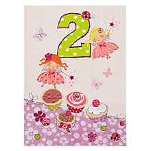 Buy Paperhouse Fairies and Cupcakes 2nd Birthday Card Online at johnlewis.com