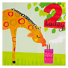 Buy Woodmansterne Giraffe Blowing Out Candle Birthday Card Online at johnlewis.com