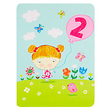 Buy James Ellis Stevens Girl 2nd Birthday Card Online at johnlewis.com