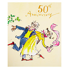 Buy Woodmansterne Couple Dancing 50th Anniversary Card Online at johnlewis.com