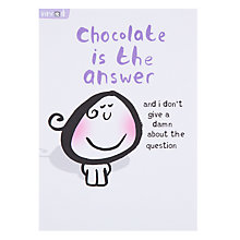 Buy Paperlink Chocolate is the Answer Greeting Card Online at johnlewis.com
