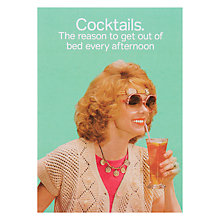 Buy Cath Tate Cards Cocktails Greeting Card Online at johnlewis.com