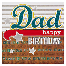 Buy Laura Darrington Happy Birthday Dad Card Online at johnlewis.com