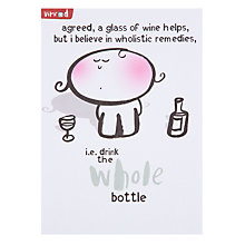Buy Paperlink Whole Bottle Greeting Card Online at johnlewis.com