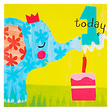 Buy Woodmansterne Elephant Blowing Out Candle 1st Birthday Card Online at johnlewis.com