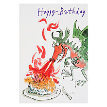 Buy Woodmansterne Dragon Fire On Cake Birthday Card Online at johnlewis.com