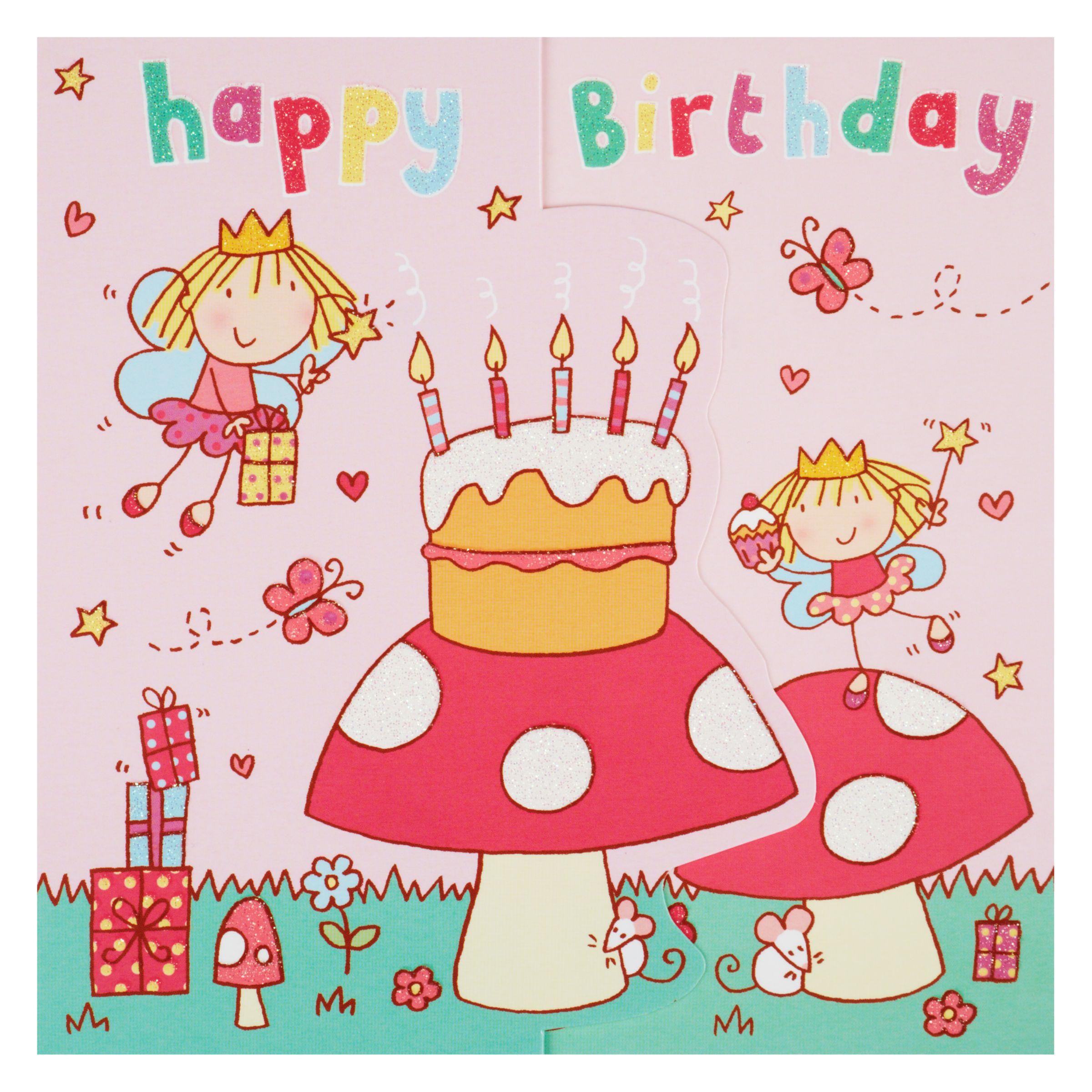 Birthday Cake John Lewis : Buy Twizler Fairy Cake Birthday Card John Lewis