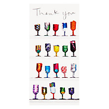 Buy Woodmansterne Foil Wine Glasses Thank You Card Online at johnlewis.com