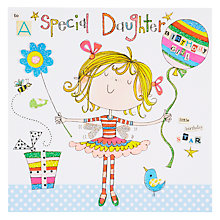 Buy Rachel Ellen Blooming Marvellous Girl and Balloon Birthday Card Online at johnlewis.com