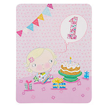 Buy James Ellis Stevens Girl 1st Birthday Card Online at johnlewis.com