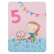 Buy James Ellis Stevens Girl 5th Birthday Card Online at johnlewis.com
