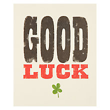 Buy Art File Good Luck Card Online at johnlewis.com