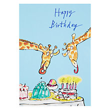 Buy Woodmansterne Giraffes with Party Food Birthday Card Online at johnlewis.com