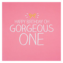 Buy Pigment Gorgeous One Birthday Card Online at johnlewis.com