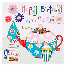 Buy Rachel Ellen Blooming Marvellous Teapot Birthday Card Online at johnlewis.com