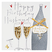 Buy Belly Button Happy Birthday Husband Birthday Card Online at johnlewis.com