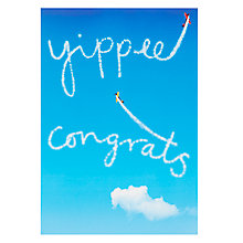 Buy Woodmansterne Plane Stunts in Blue Sky Congratulations Greeting Card Online at johnlewis.com