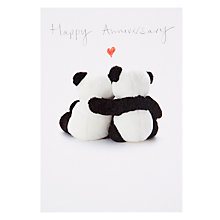 Buy Woodmansterne Two Pandas Hugging Anniversary Card Online at johnlewis.com