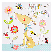 Buy Rachel Ellen Blooming Marvellous Dog and Flowers Birthday Card Online at johnlewis.com