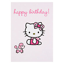 Buy Hype Hello Kitty Poodle Birthday Card Online at johnlewis.com
