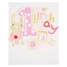 Buy Caroline Gardner Girl 1st Birthday Card Online at johnlewis.com