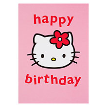 Buy Hype Hello Kitty Birthday Head Birthday Card Online at johnlewis.com