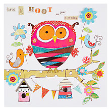 Buy Rachel Ellen Blooming Marvellous Hoot On Your Birthday Card Online at johnlewis.com