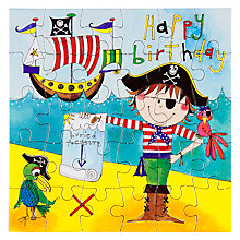 Buy Rachel Ellen Happy Birthday Pirate Birthday Card Online at johnlewis.com