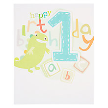 Buy Caroline Gardner Boy 1st Birthday Card Online at johnlewis.com