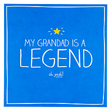 Buy Pigment My Grandad is a Legend Birthday Card Online at johnlewis.com