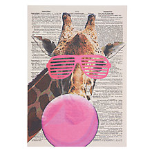 Buy Art Press Giraffe with Bubblegum Greeting Card Online at johnlewis.com