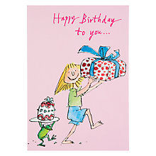 Buy Woodmansterne Girl and Frog Birthday Card Online at johnlewis.com