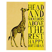 Buy Art File Head and Shoulders Birthday Card Online at johnlewis.com