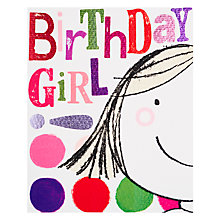 Buy Really Good Birthday Girl Card Online at johnlewis.com