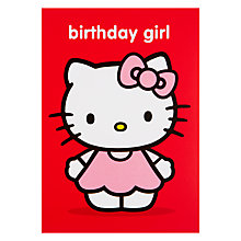 Buy Hype Hello Kitty Birthday Girl Dress Birthday Card Online at johnlewis.com