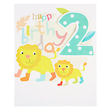 Buy Caroline Gardner Boy 2nd Birthday Card Online at johnlewis.com