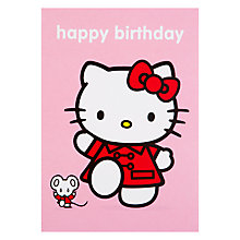 Buy Hype Hello Kitty Birtdhay With Mouse Birthday Card Online at johnlewis.com