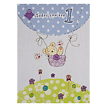Buy Paperhouse Hot Air Balloon 1st Birthday Card Online at johnlewis.com