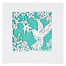 Buy Paperlink Hummingbird Birthday Card Online at johnlewis.com