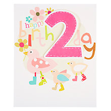 Buy Caroline Gardner Girl 2nd Birthday Card Online at johnlewis.com