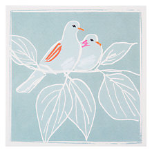 Buy Art Press Doves On Branch Greeting Card Online at johnlewis.com