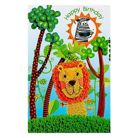 Buy Paper Rose Jungle Lion Birthday Card Online at johnlewis.com