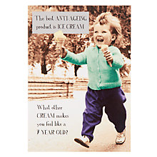 Buy Pigment Kid Carrying Ice Cream Birthday Card Online at johnlewis.com
